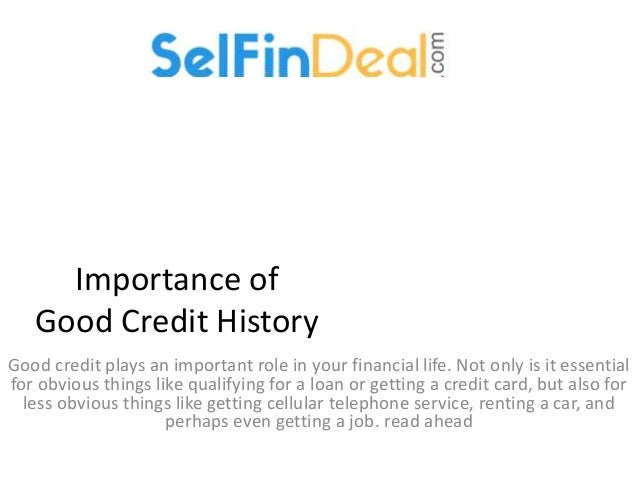 how to get good credit history