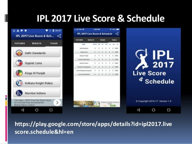 Ppt 1IPL 2017 Live Cricket Match Score & Schedule and Latest Update