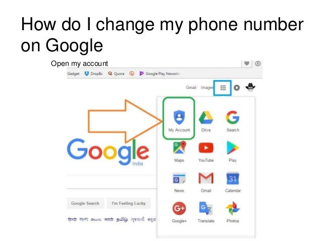 how do i change my gmail account mobile number