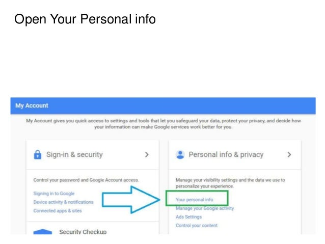 Change my google account phone number