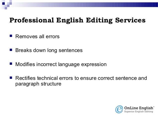 English editing service nature