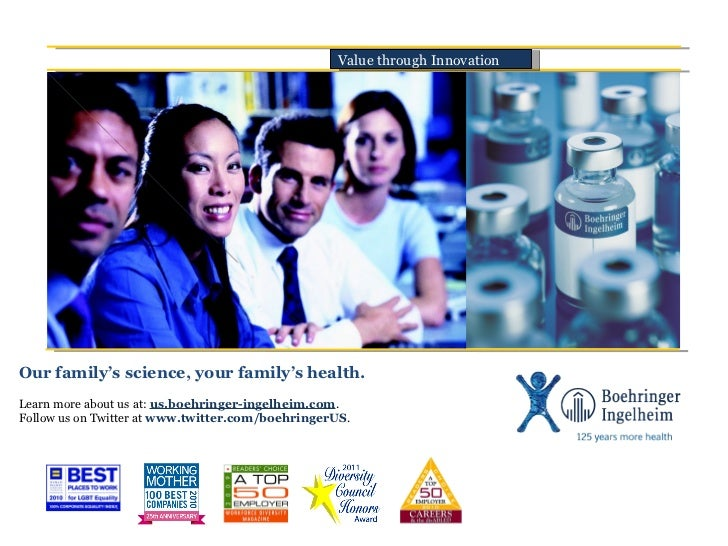 Our family's science, your family's health. Learn more about us at:  us.boehringer-ingelheim.com .  Follow us on Twitter a...