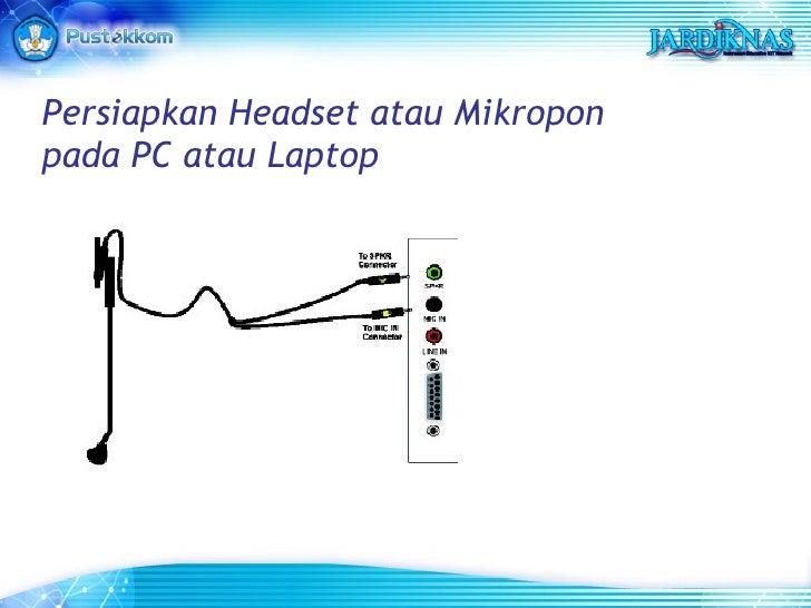 Persiapkan Headset atau Mikropon pada PC atau Laptop