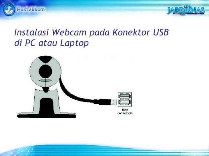 Instalasi Webcam pada Konektor USB di PC atau Laptop