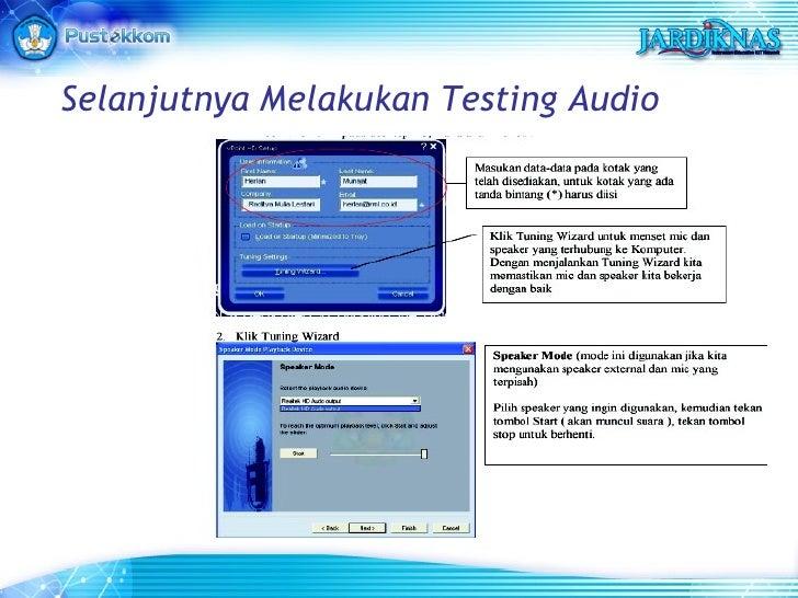 Selanjutnya Melakukan Testing Audio