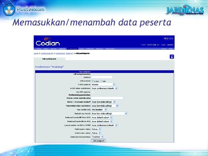 Memasukkan/menambah data peserta