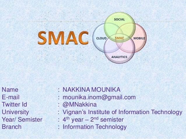 Name : NAKKINA MOUNIKA E-mail : mounika.inom@gmail.com Twitter Id : @MNakkina University : Vignan's Institute of Informati...
