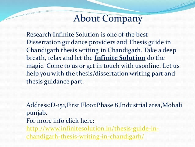 Thesis help in chandigarh