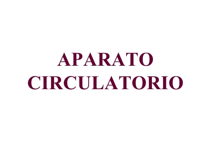 APARATOCIRCULATORIO