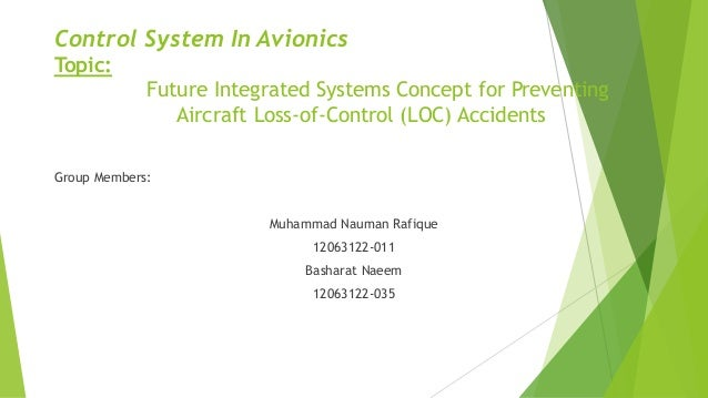 Control System In Avionics Topic: Future Integrated Systems Concept for Preventing Aircraft Loss-of-Control (LOC) Accident...