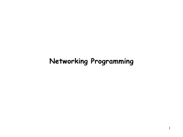 Networking Programming