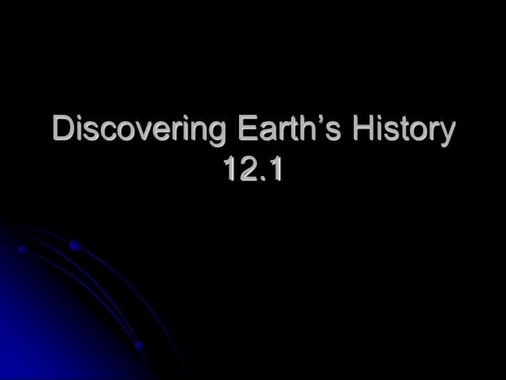 Discovering Earth's History 12.1<br />