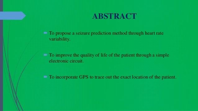 ASSISTIVE SYSTEM FOR EPILEPSY Slide 2
