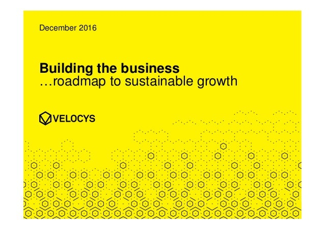 Building the business …roadmap to sustainable growth December 2016
