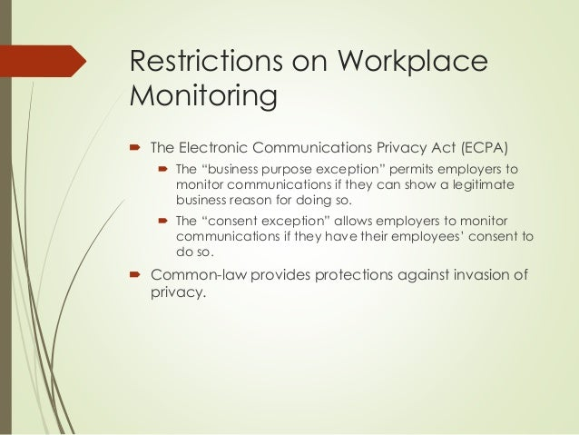 Issue of privacy and electronic monitoring in the work place