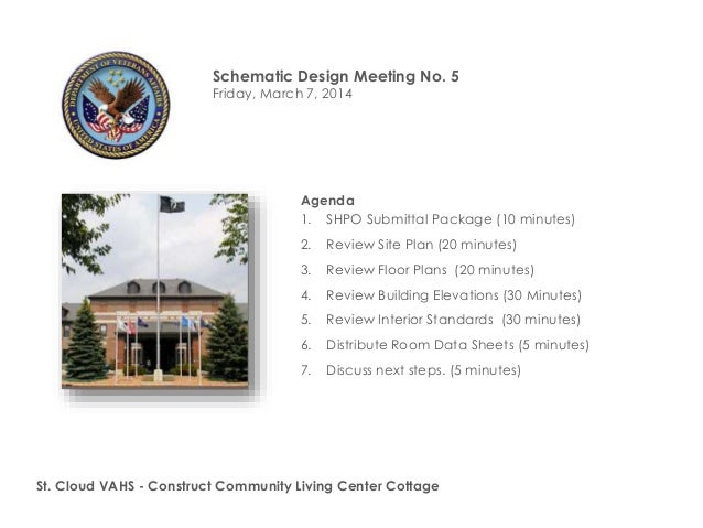Schematic Design Meeting No. 5 Friday, March 7, 2014  Agenda 1. SHPO Submittal Package (10 minutes) 2.  Review Site Plan (...