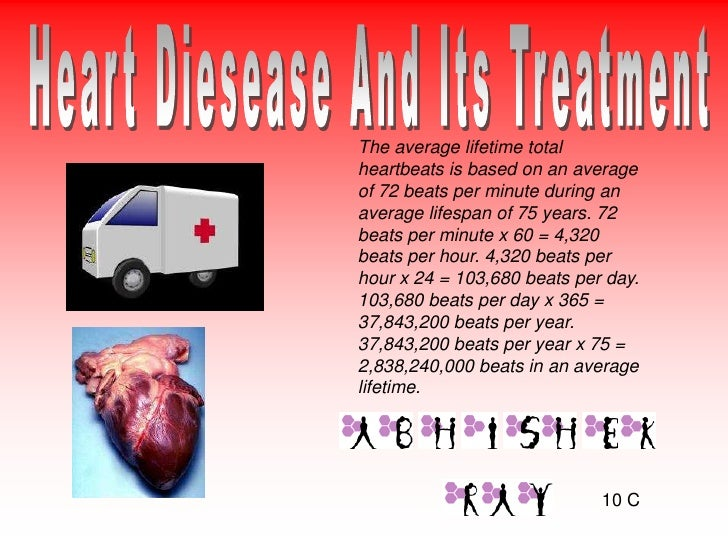 The average lifetime total heartbeats is based on an average of 72 beats per minute during an average lifespan of 75 years...