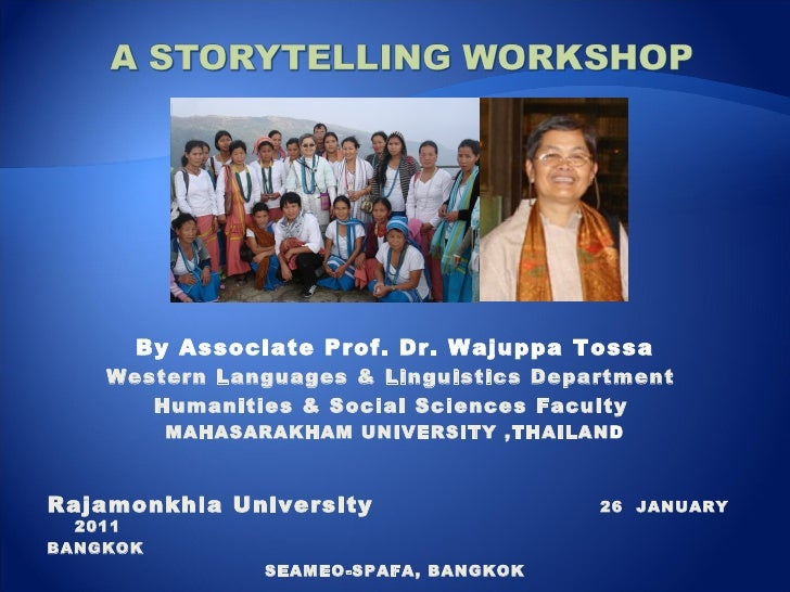By Associate Prof. Dr. Wajuppa Tossa Western Languages & Linguistics Department  Humanities & Social Sciences Faculty  MAH...