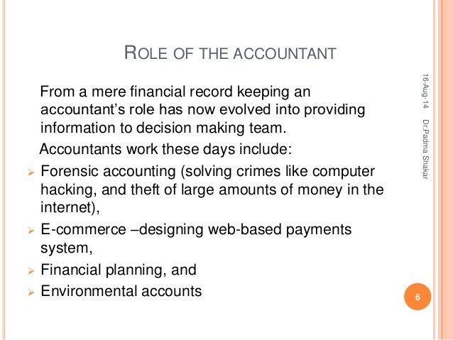accountant role