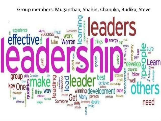 Group members: Muganthan, Shahin, Chanuka, Budika, Steve •
