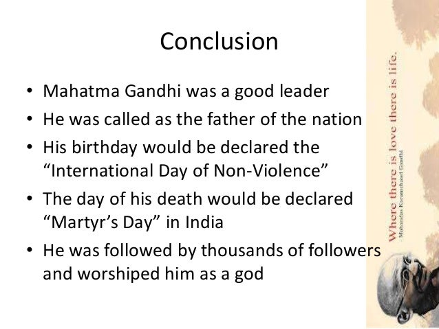 mahatma gandhi detailed research essay