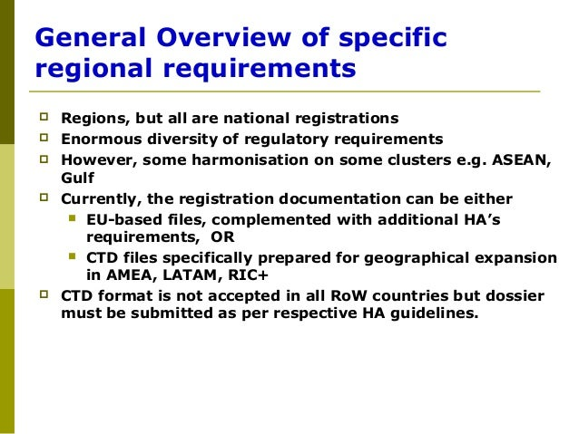 Ppt 1 overview of regulatory affairs and diff