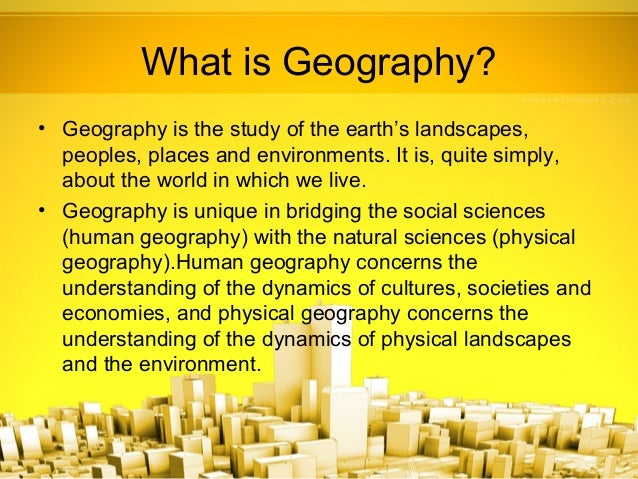 what is a geographer definition