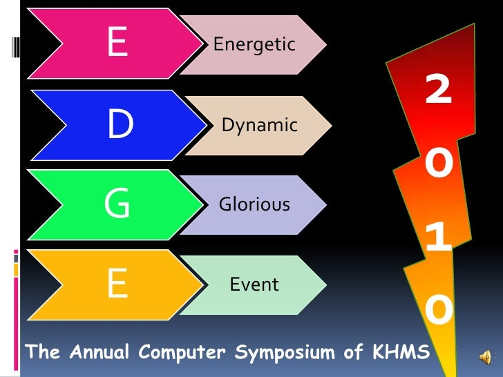 2<br />0<br />1<br />0<br />The Annual Computer Symposium of KHMS<br />