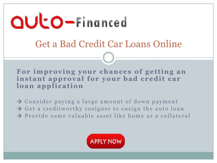 Bad Credit Car Loans With Large Down Payment