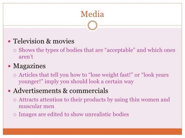 body image representations Purchase encyclopedia of body image and human appearance - 1st edition body image, disturbed eating media influences on male body image introduction media representations of the male body.