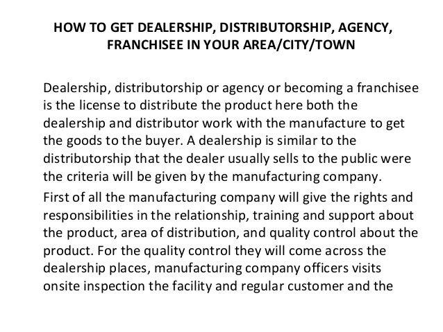 Dealership Request Letter