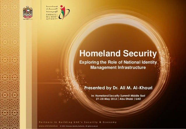 The Role of Homeland Security Organizations and Personnel