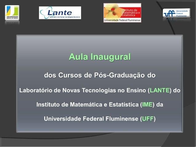 Universidade Aberta do Brasil (UAB)Universidade Aberta do Brasil (UAB) Foi criada pelo MEC em 2005, para a implantação de ...