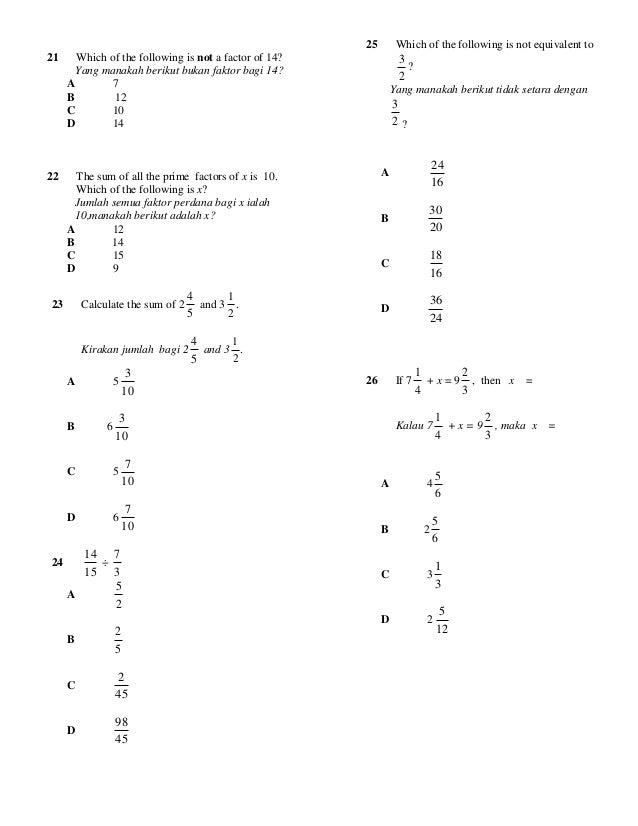 Soalan Matematik Tingkatan 3 Bab 1 Dan 2 Resepi Book F