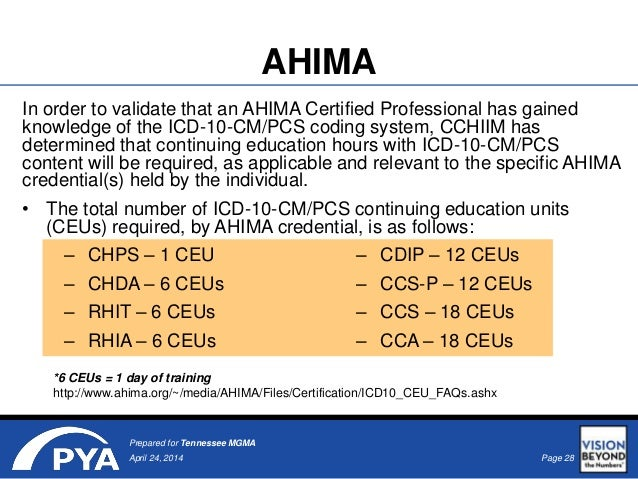 ahima advanced coding credentials Its basic credential is the certified coding associate or cca retrieved from.