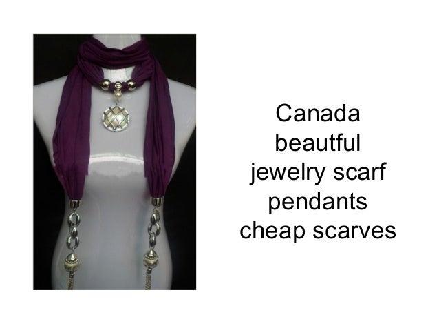 Canada    beautful jewelry scarf   pendantscheap scarves