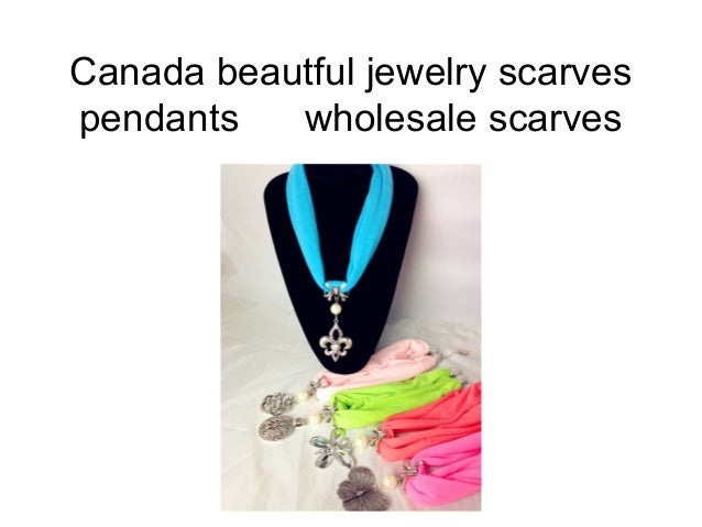 Canada beautful jewelry scarvespendants   wholesale scarves