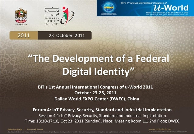 """2011                                          23 October 2011                             """"The Development of a Federal   ..."""