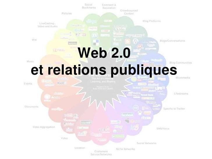 Web 2.0 et relations publiques