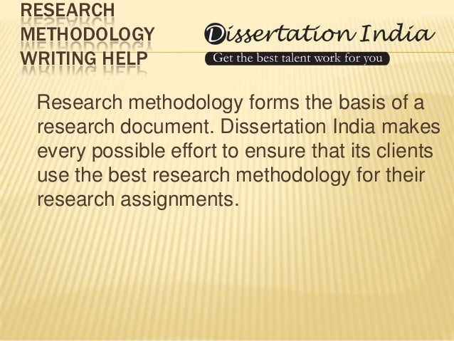 Dissertation assistance writing methodology chapter