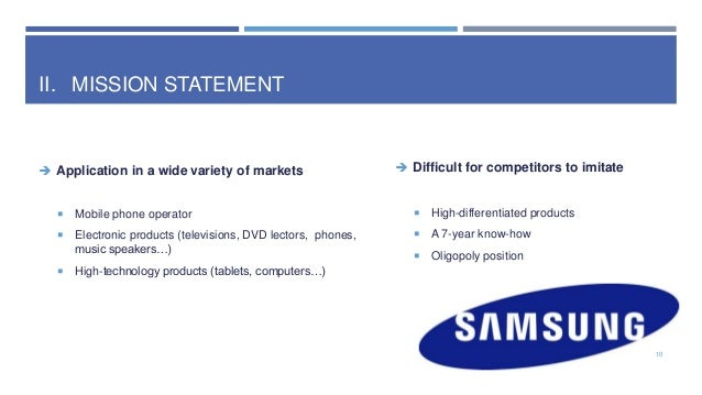 Vision And Mission Of Samsung >> Samsung Electronics Mission Statement What Is The Samsung Mission