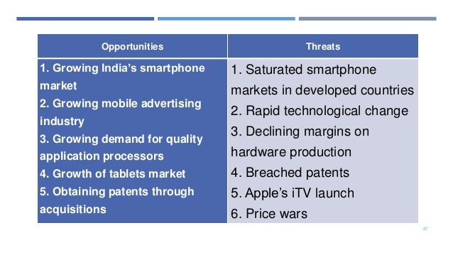 samsung opportunities and threats