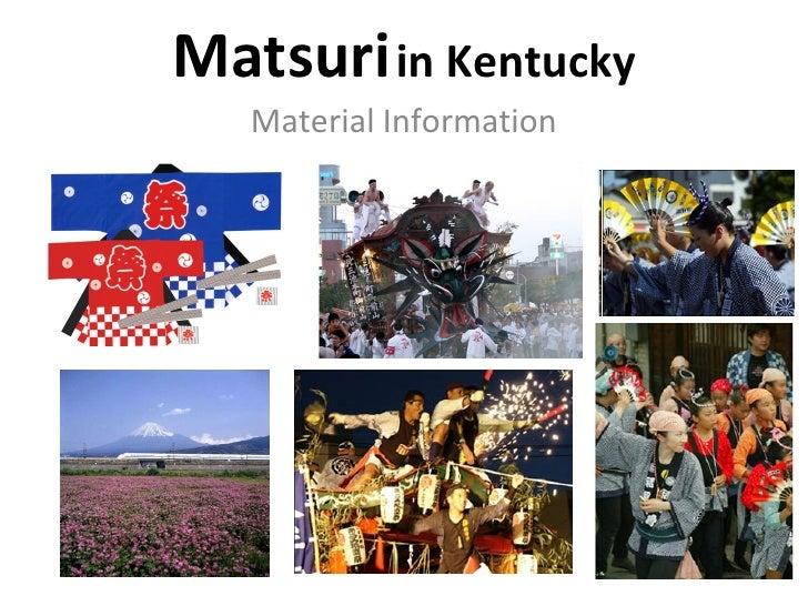 Matsuri   in Kentucky Material Information