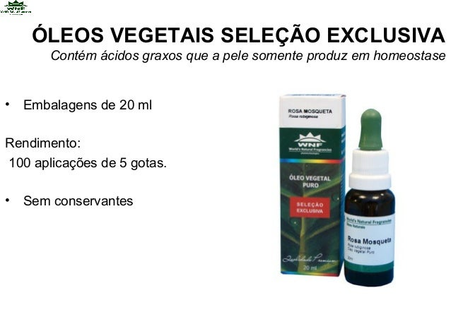 ÓLEOS VEGETAIS SELEÇÃO EXCLUSIVAContém ácidos graxos que a pele somente produz em homeostase• Embalagens de 20 mlRendiment...