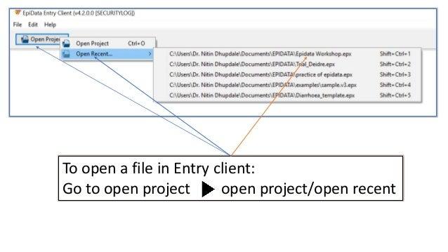epidata entry