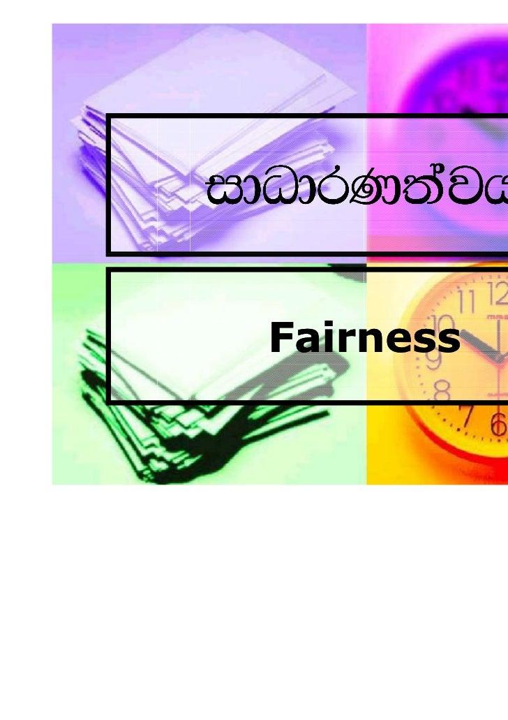 idOdrK;ajh Fairness