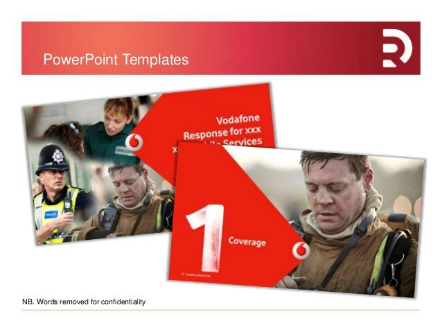 rare design case study vodafone, Presentation templates