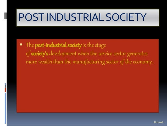 post industrial society definition sociology