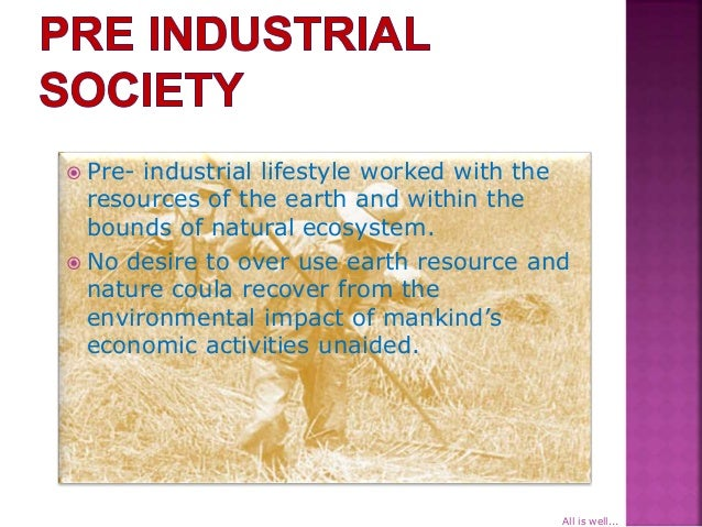 what is pre industrial society