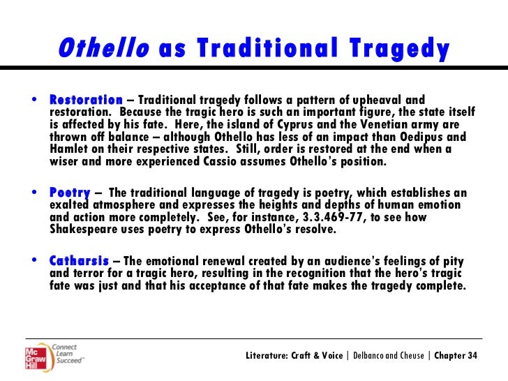 The Downfall of Oedipus is the Work of the Gods; The Downfall of Othello is Self-inflicted